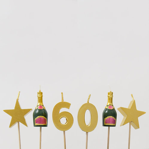 60 Stars And Bottles Candles