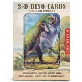 3D Dinosaur Playing Cards