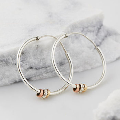 Charlotte's Web Maharani Silver Hoop Earrings