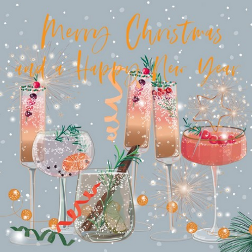 Festive Cocktails Christmas Cards Box of 8