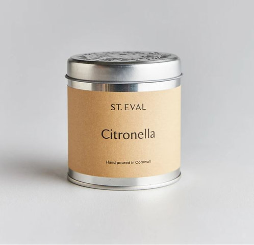 St Eval Citronella Scented Tin Candle