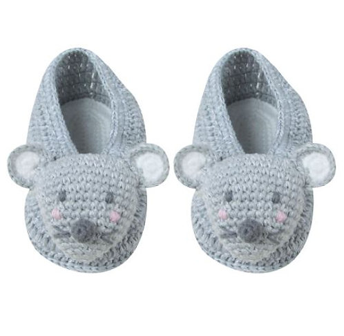 Crochet Mouse Booties 3-6 Months