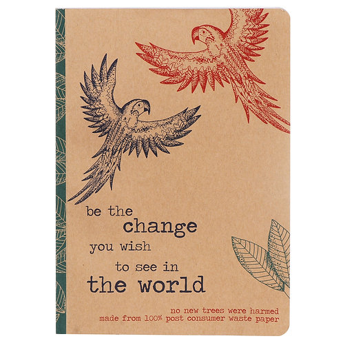 Milly Green A5 Rainforest Notebook Be The Change