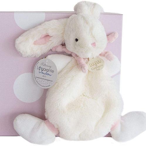 DouDou Pink Bunny Comforter Boxed