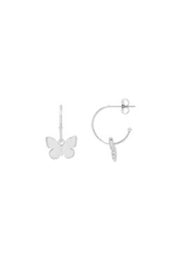 Estella Bartlett Butterfly Drop Hoop Earrings