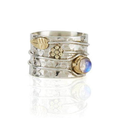 Charlotte's Web Moonstone Secret Garden Ring