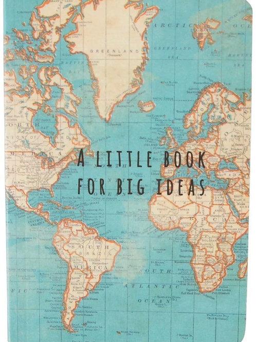 Vintage Map Mini Notebook