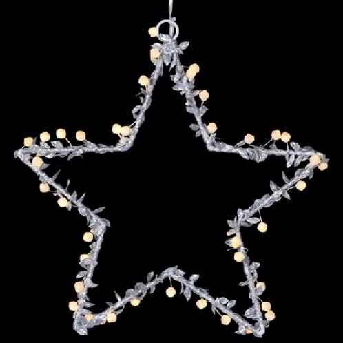 Lit Beaded Star Christmas Decoration