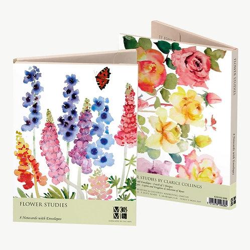 Flower Studies Notecards and Envelopes Pack of 8