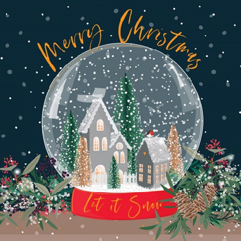 Snowglobe Village Christmas Cards Box of 8