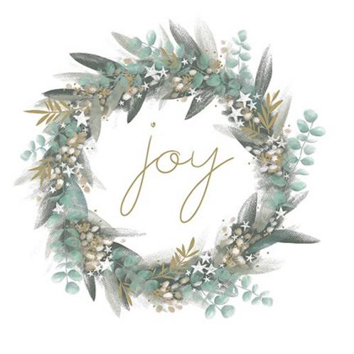 Joy Wreath Christmas Cards Box of 8