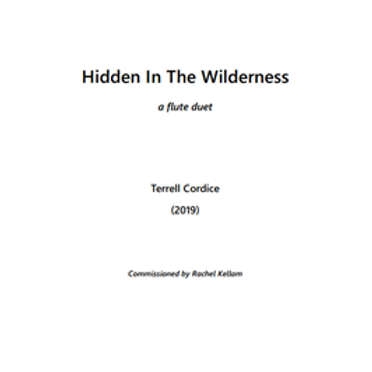 Hidden in the Wilderness - Score and Parts