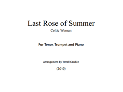 Last Rose of Summer - Score and Parts