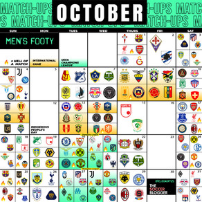 Men's October Soccer Calendar