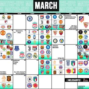 March Soccer Calendar!