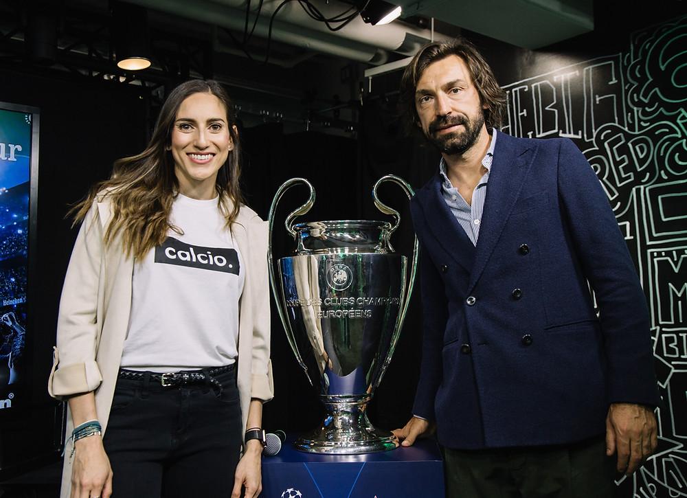 Andrea Pirlo - UEFA Champions League Trophy Tour - Melissa Ortiz