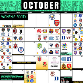 Women's October Soccer Calendar