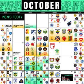 Top Men's October Soccer Calendar!
