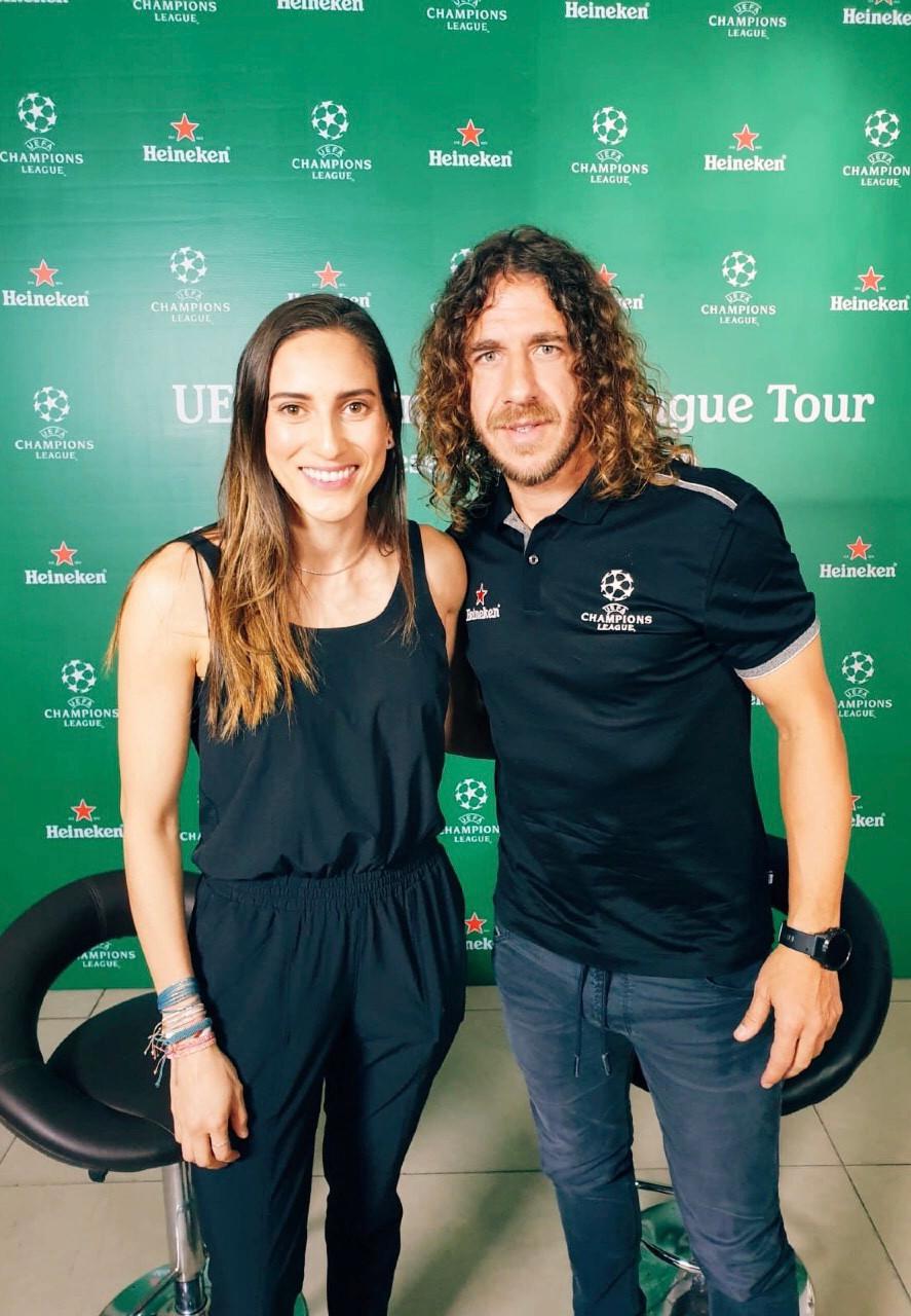 Carles Puyol - UEFA Champions League Trophy Tour - Melissa Ortiz - Heineken - FC Barcelona