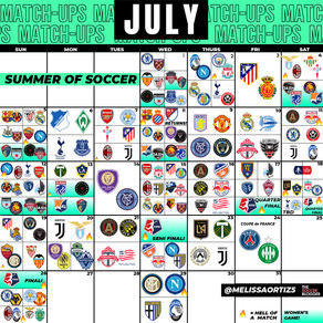 July Soccer Calendar