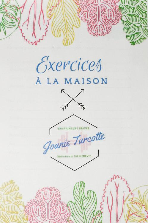 Livre d'exercices à la maison