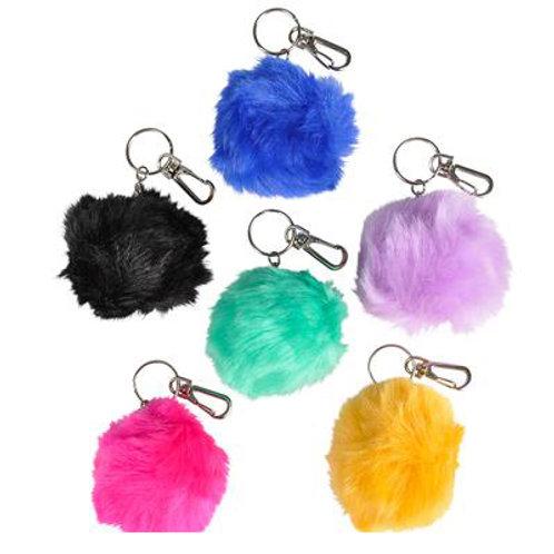 """3"""" Furry Pom Pom Keychain"""