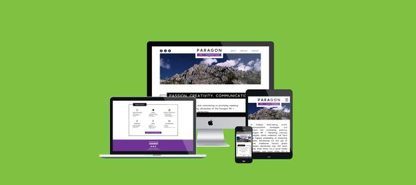 Paragon PR website design
