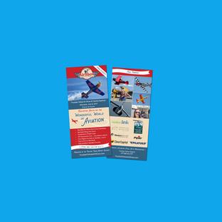 Truckee Tahoe Air Show Rack Card Design