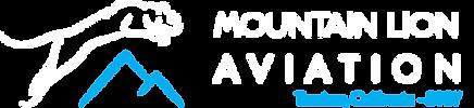 Mountain Lion Aviation LOGO final white