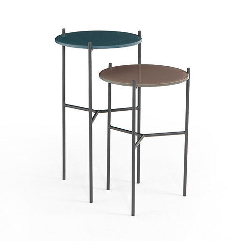 POPPY END TABLES, SET OF 2