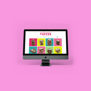 Small Batch Toffee Website Design