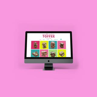 Small Batch Toffee Website Design