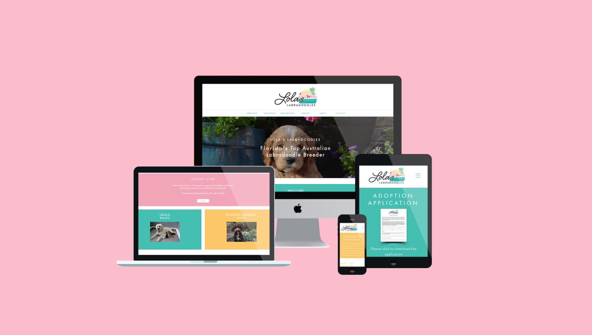 lolas labradooble website design logo design