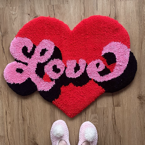 Love Rug (or wall hanging)