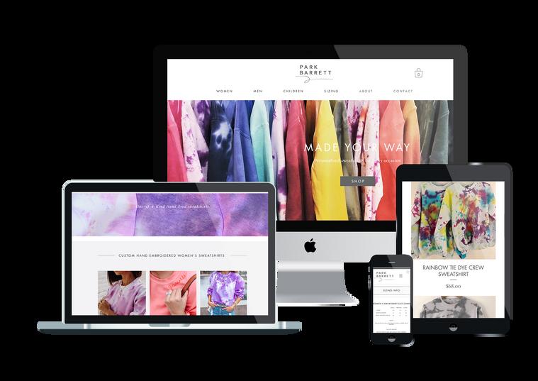 park barrett website design