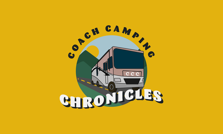 coach camping chronicles logo design