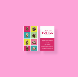 Business Card Design for Small Batch Toffee