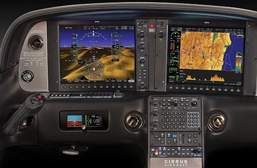 Cirrus Perspective avionics system by garmin for cirrus aircraft