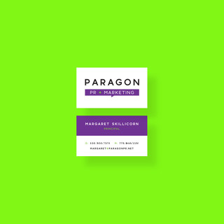 Business Card Design for Paragon PR