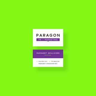 Business Card Design for Paragon PR