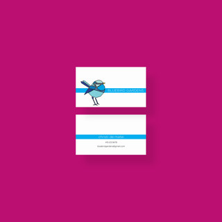 Business Card Desgin Bluebird Garden