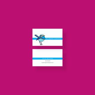 Business Card Desgin Bluebird Garden