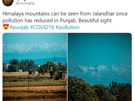 Himalayas visible in parts of India miles away for the first time in 30 years