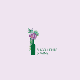 Succulents and Wine Logo Design