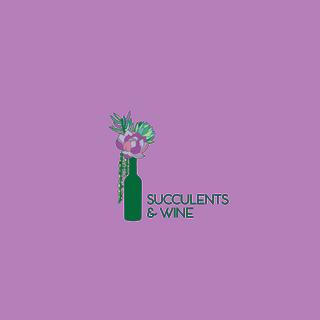 Succulents and Wine Logo Design
