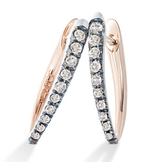White Diamond Earring