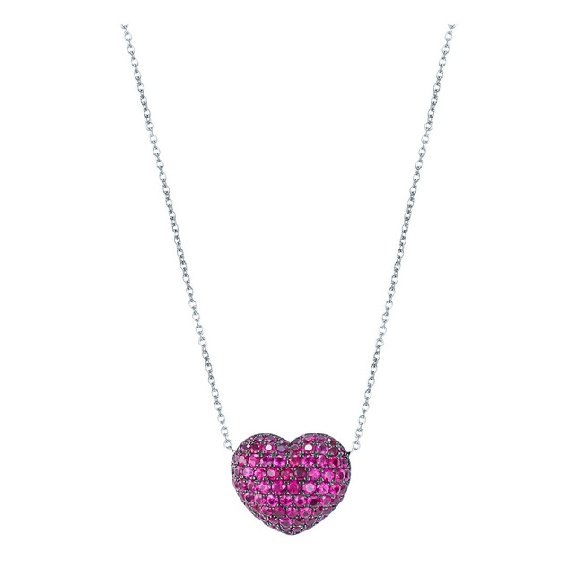 Pink Topaz Heart Necklace