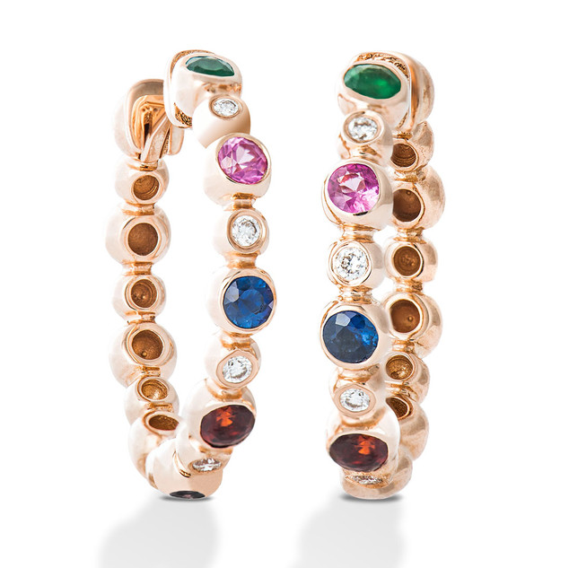Color Diamond Earring