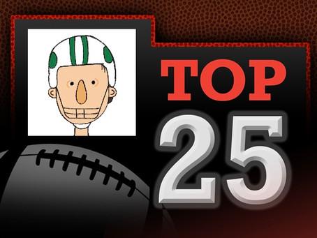 Basel's Week 2 NCAAF Top 25