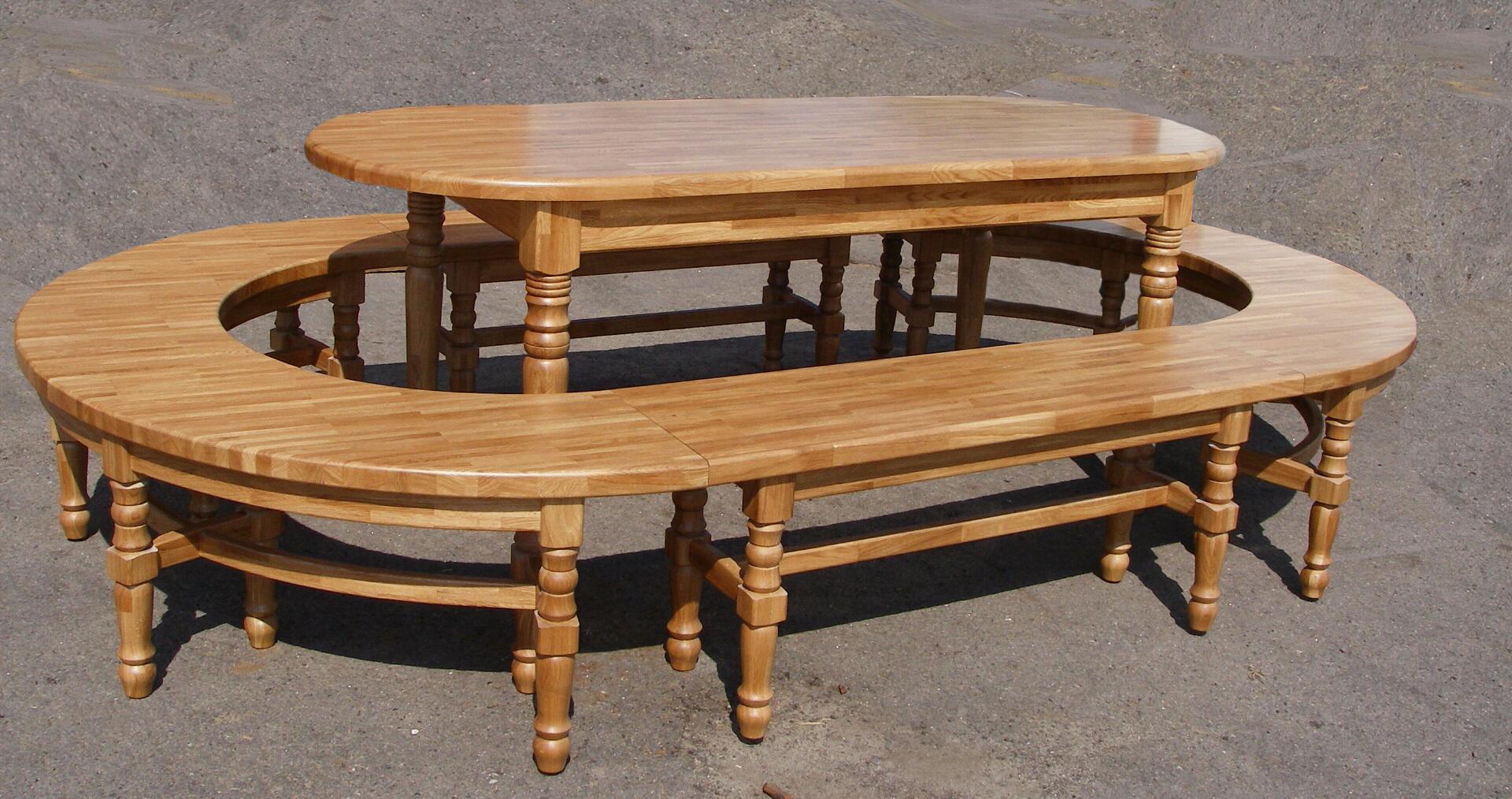 Овальный стол + лавка